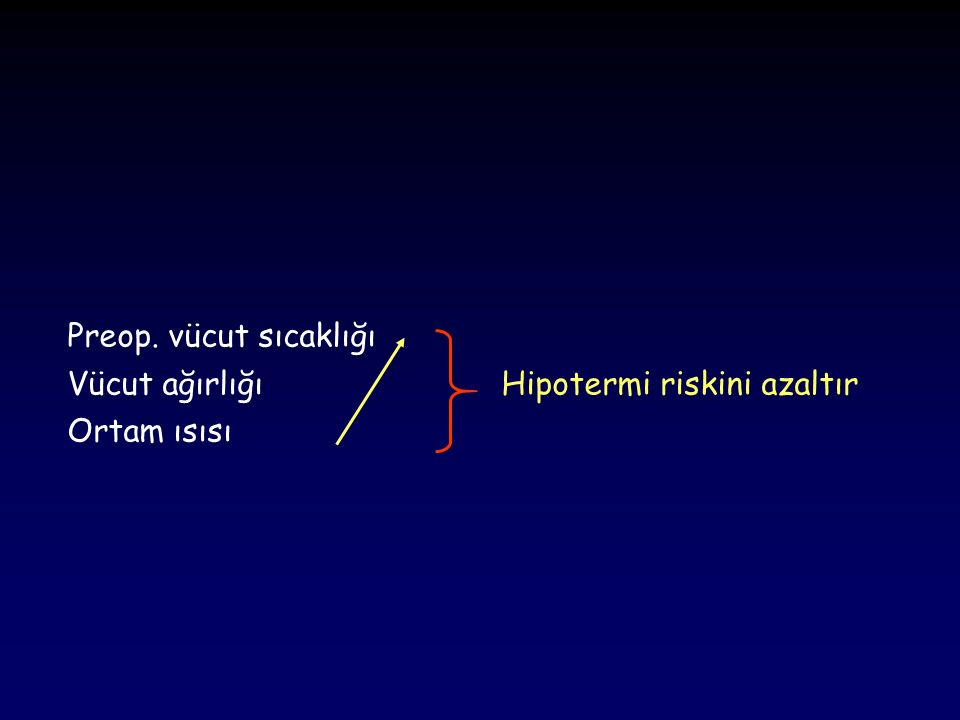 Termoregülatuvar Merkez Normal : 36.7 – 37.1 o C Termal olarak nötral bölge 38.0 o C