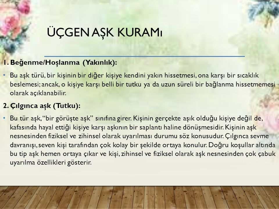 ÜÇGEN AŞK KURAMı 1.