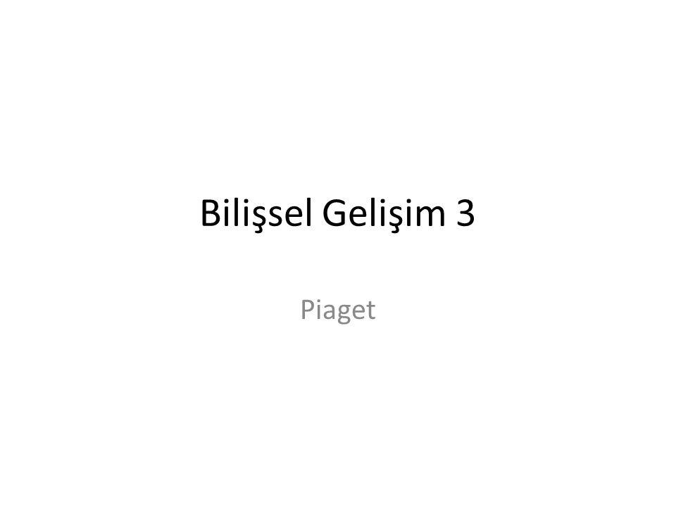 Aşağıdakilerden hangisi Piaget'nin bilişsel gelişim kuramı ile ilgili olarak doğru bir açıklamadır.