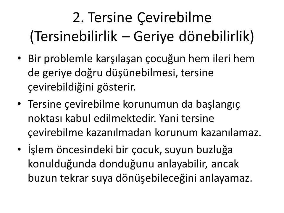 Aşağıdakilerden hangisi somut işlemler döneminin özelliğidir.