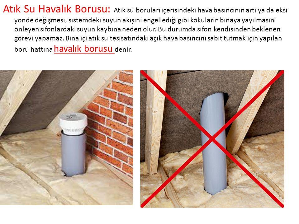 Atık su boruları bina içerisinde mümkün olduğunca görülmeyecek yerlere, tesisat bacası, düşük döşeme içersine, asma tavan içine, duvar köşelerine döşenmelidir.