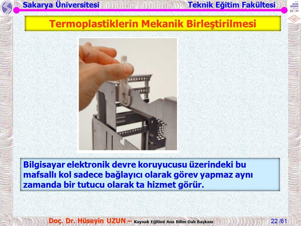 Sakarya Üniversitesi Teknik Eğitim Fakültesi /61 Doç. Dr. Hüseyin UZUN – Kaynak Eğitimi Ana Bilim Dalı Başkanı 22 Bilgisayar elektronik devre koruyucu