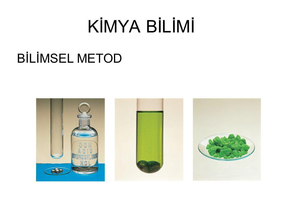Kimya madde ve uğradığı değişiklikler ile ilgili bir bilimdir.
