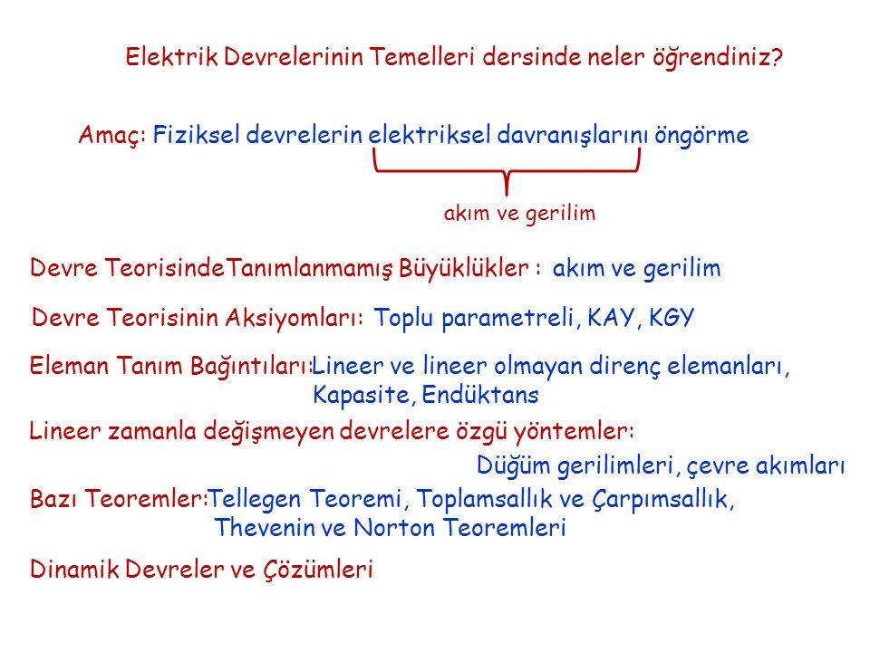 Devre ve Sistem Analizi Sistem Durum Denklemleri ( Hatırlatma ) 2.