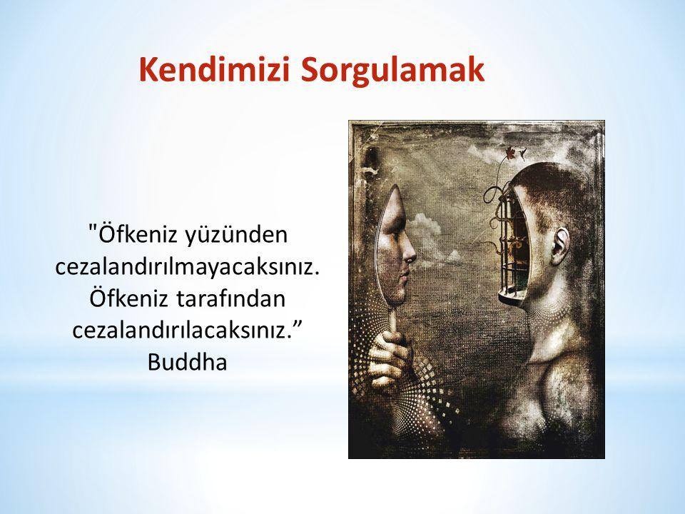 Kendimizi Sorgulamak ʺ Öfkeniz yüzünden cezalandırılmayacaksınız. Öfkeniz tarafından cezalandırılacaksınız.ˮ Buddha