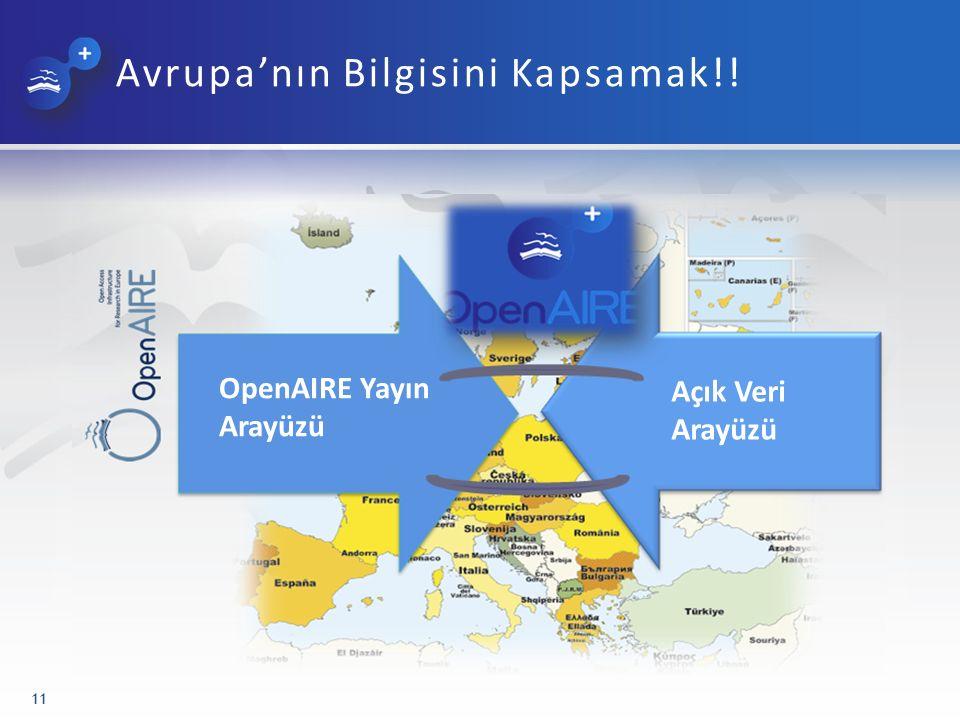 Avrupa'nın Bilgisini Kapsamak!! 11 OpenAIRE Yayın Arayüzü Açık Veri Arayüzü