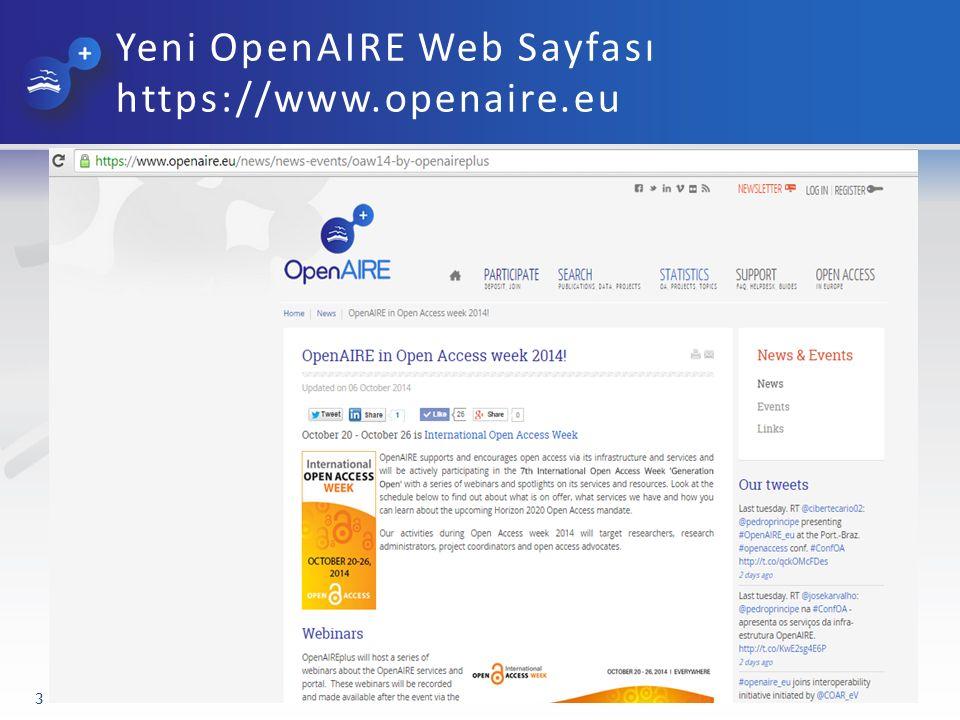 Zenodo: Pan-Avrupa Bilgi Altyapısı www.zenodo.org 14 Zenodo araştırma çıktıları için tüm gereksinimleri sağlayan bir depolama alanı sunar.