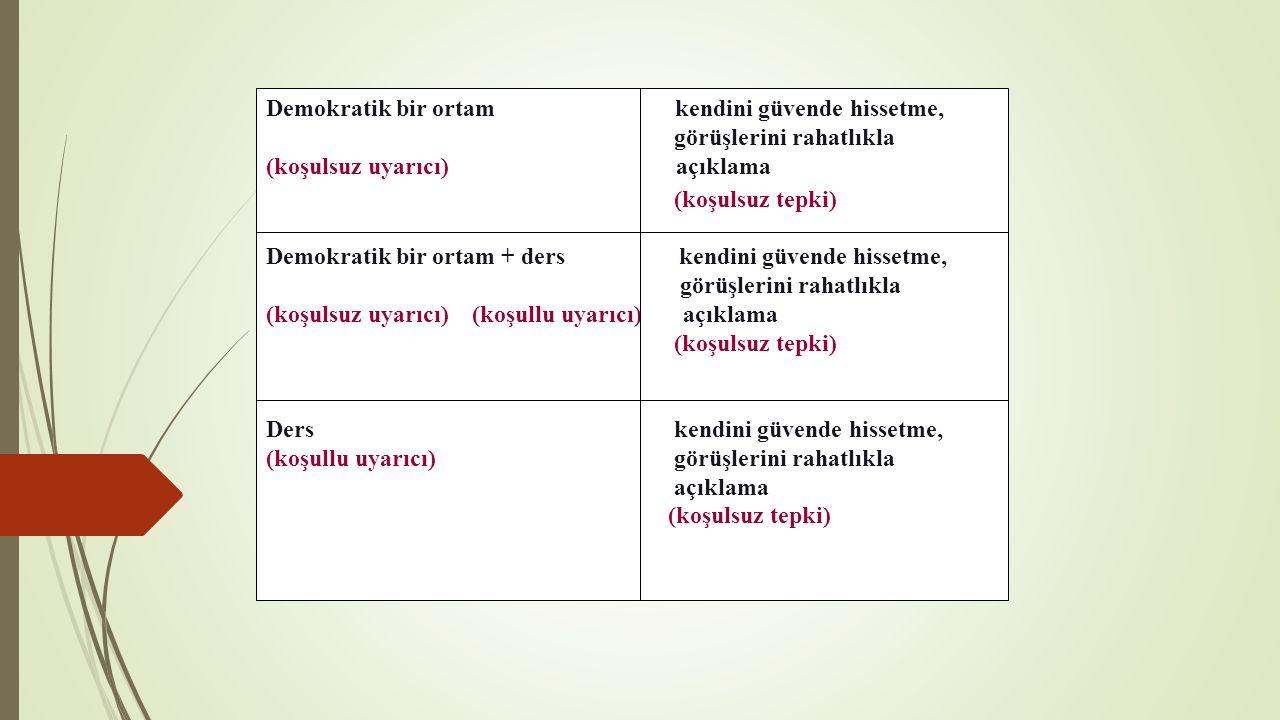  İşlevsel değerlendirme modeli (planlama)  1.