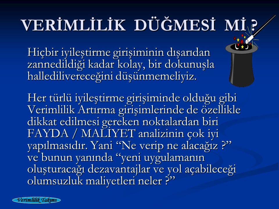 Verimlilik Takımı VERİMLİLİK DÜĞMESİ Mİ .