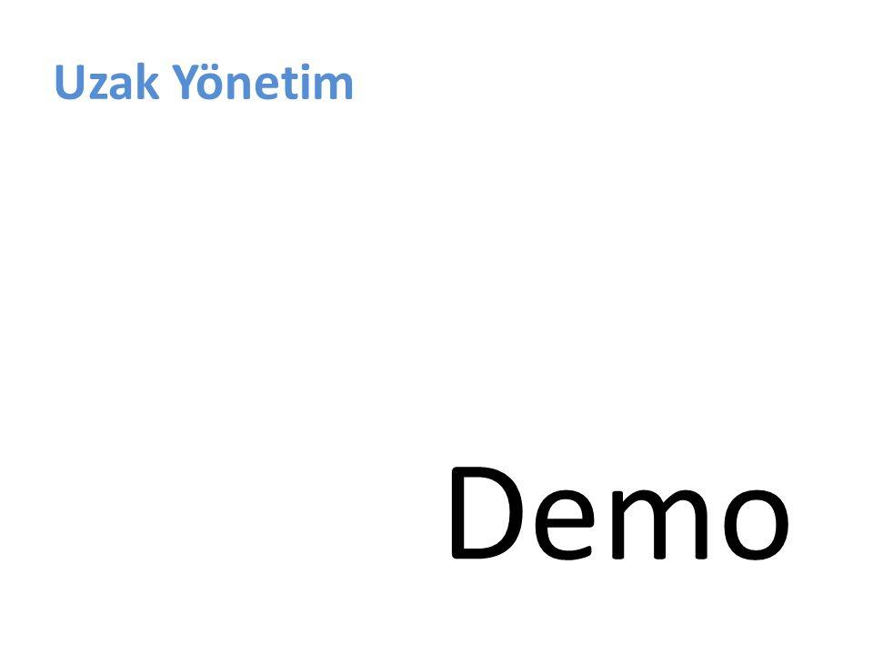 Uzak Yönetim Demo