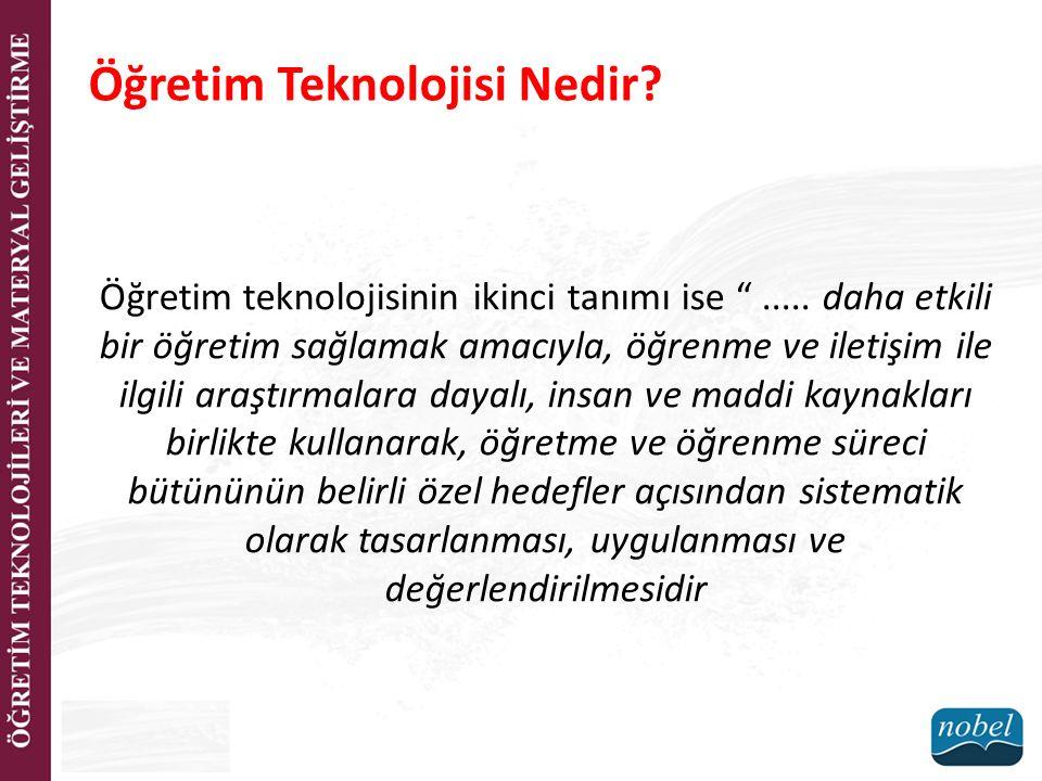 Eğitim Teknolojisi mi.Öğretim Teknolojisi mi.