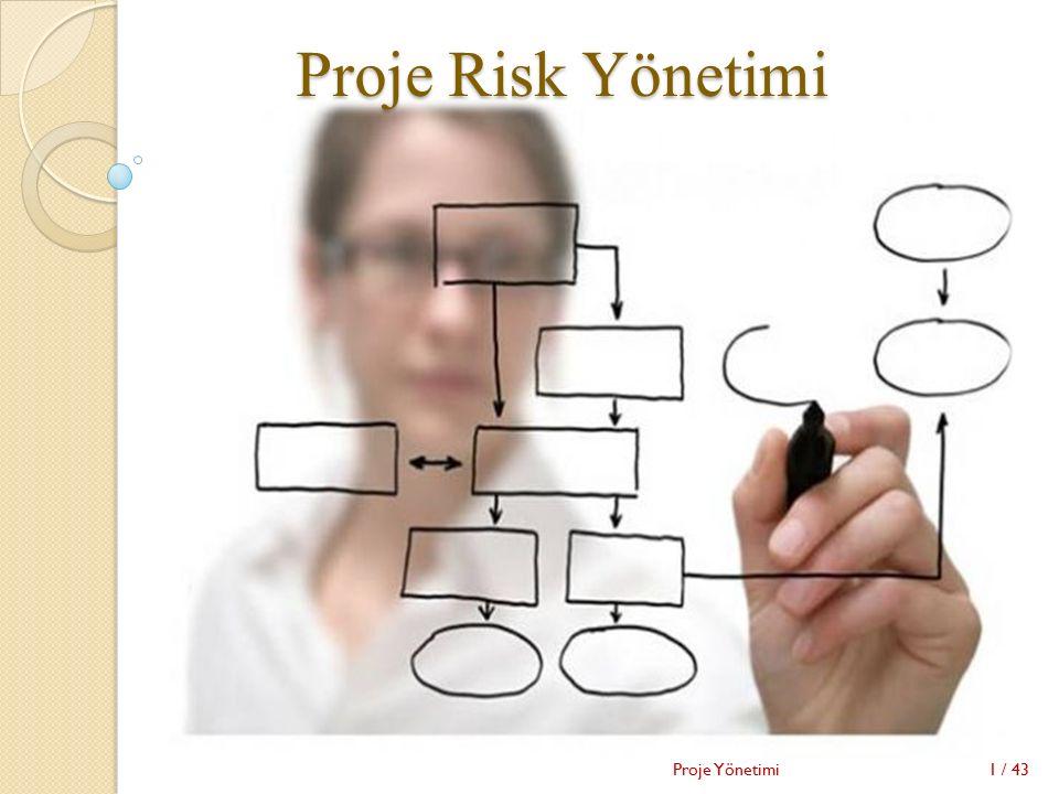 Proje Risk Yönetimi 1 / 43Proje Yönetimi