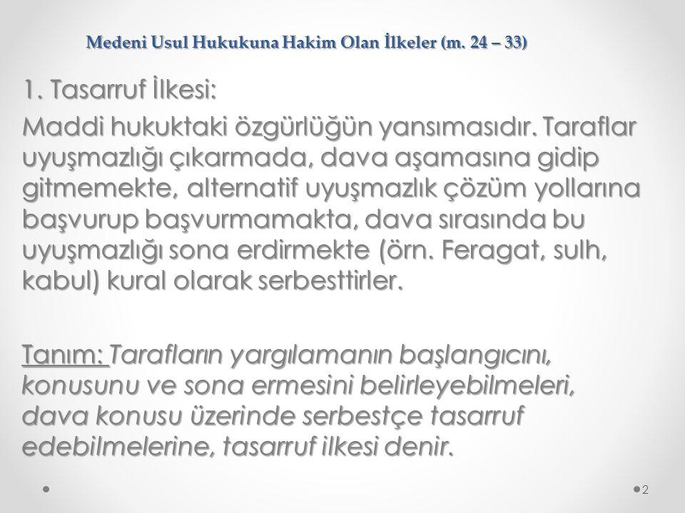 DAVA ÇEŞİTLERİ (HMK m.