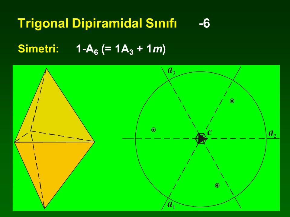 Trigonal Dipiramidal Sınıfı -6 Simetri:1-A 6 (= 1A 3 + 1m)