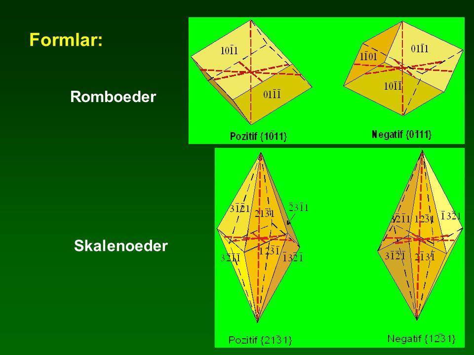 Formlar: Skalenoeder Romboeder