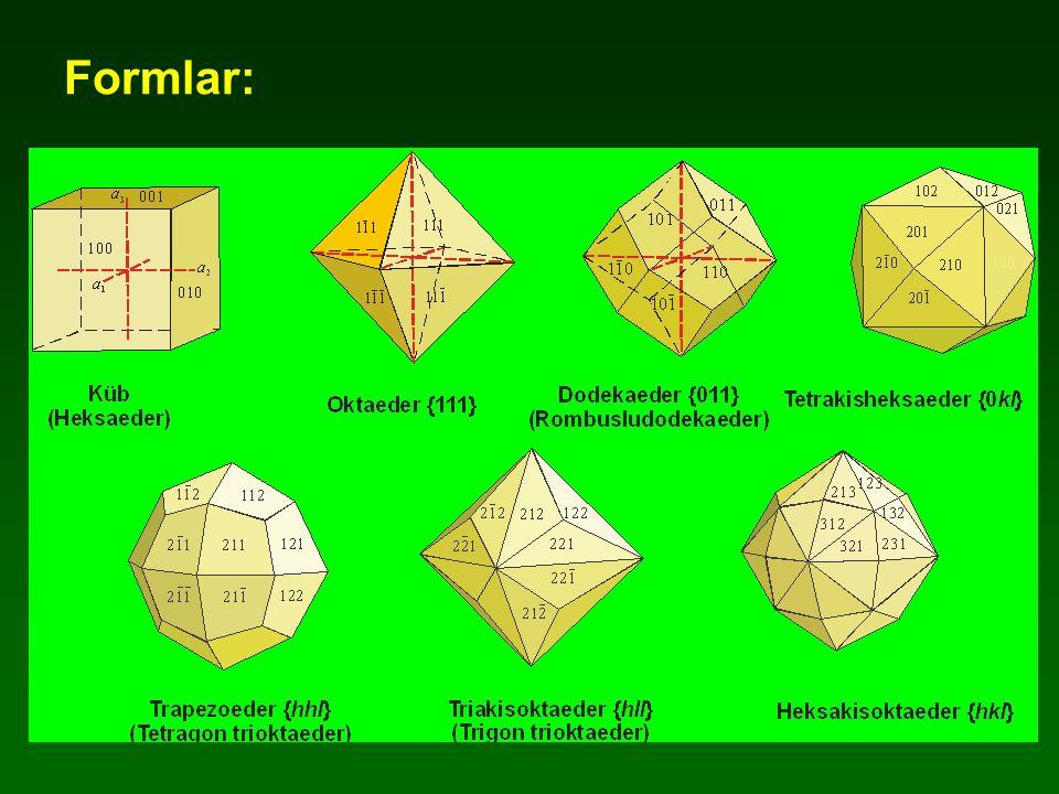 Trigonal Trapezoedral Sınıfı 32 Simetri: 1A 3, 3A 2