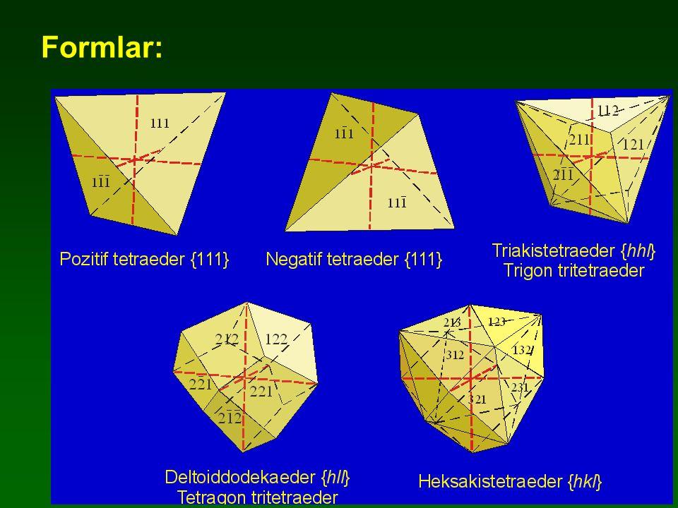 Trigonal Piramidal Sınıfı 3 Simetri:1A 3
