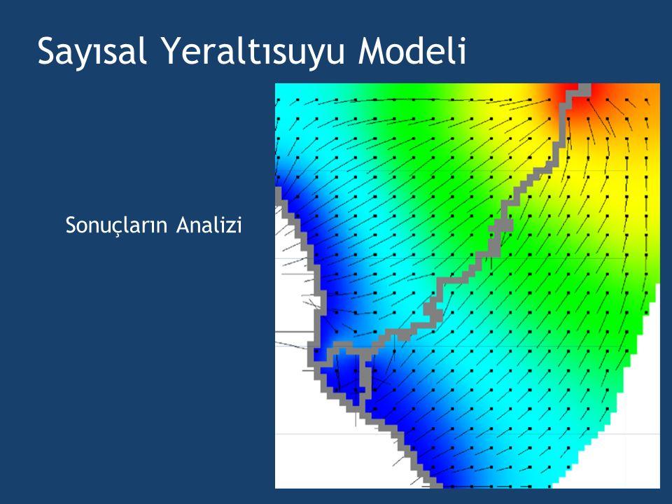 Sayısal Yeraltısuyu Modeli Sonuçların Analizi