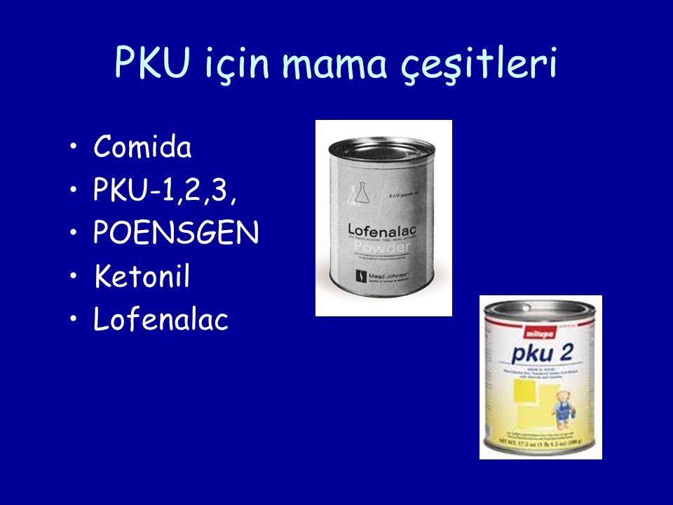 PKU için mama çeşitleri Comida PKU-1,2,3, POENSGEN Ketonil Lofenalac