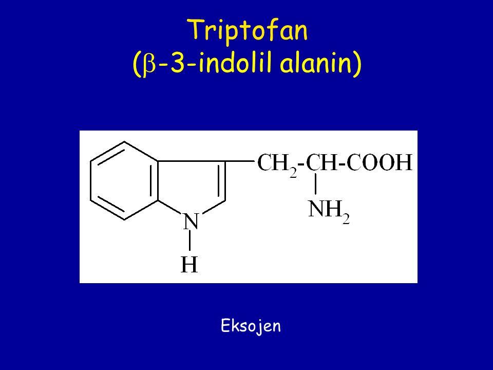 Triptofan (  -3-indolil alanin) Eksojen