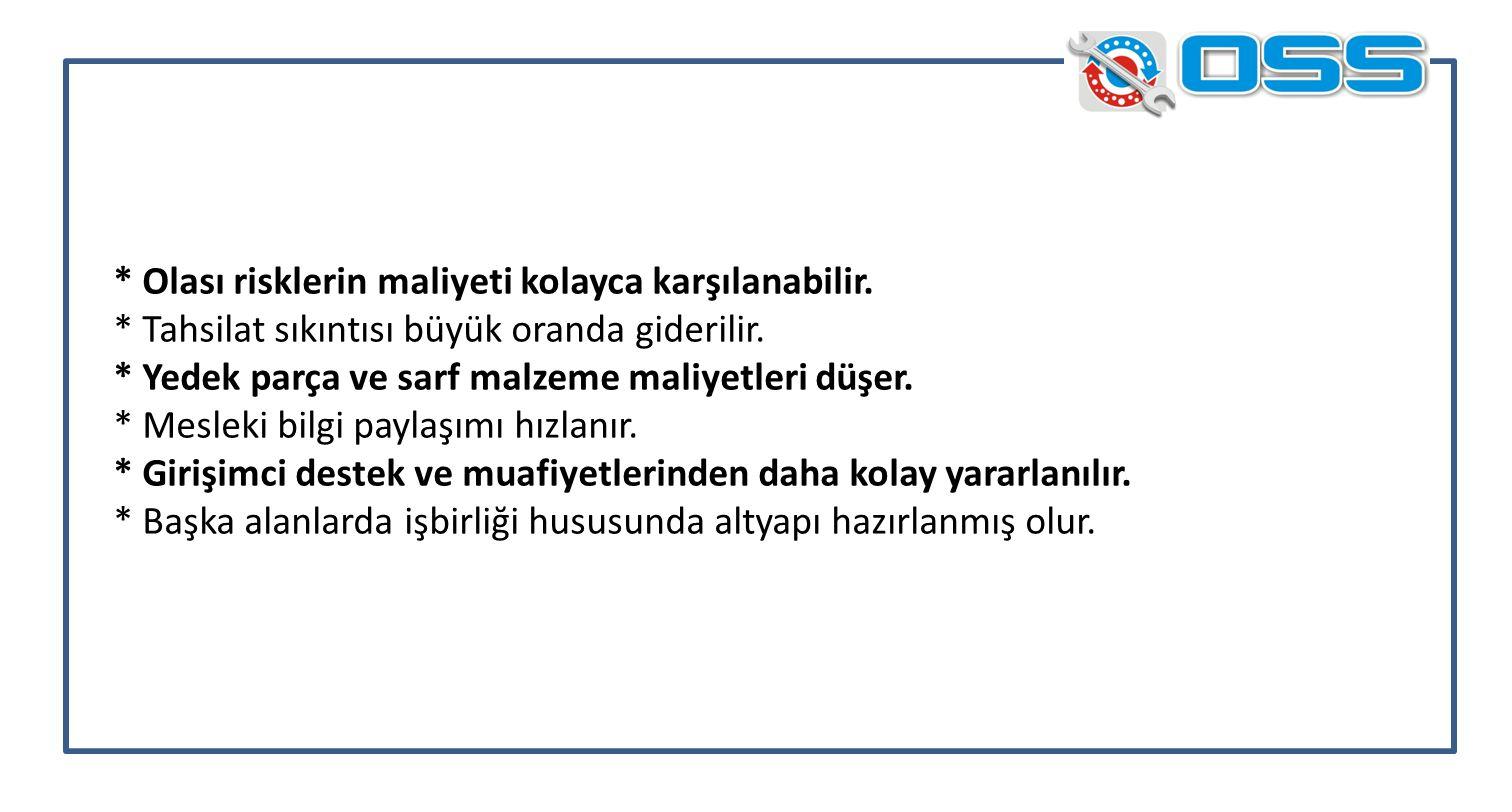 İş kazaları ile asansör kullanıcısı kazalarından doğacak maddi ceza ve SGK ödemeleri de servis ortak gideri olarak kabul edilir.