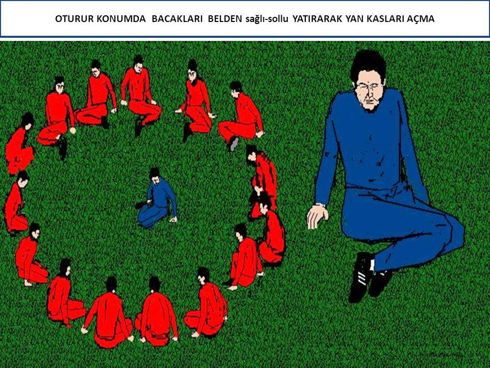 OTURUR KONUMDA BACAKLARI BELDEN sağlı-sollu YATIRARAK YAN KASLARI AÇMA Murat Başyazıcıoğlu