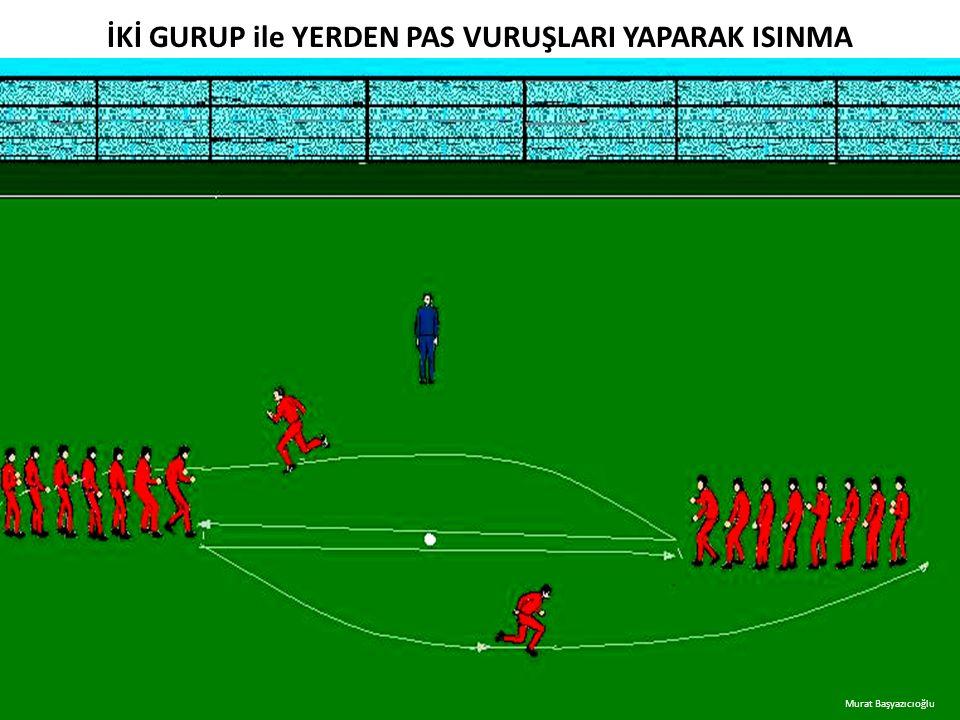 İKİ GURUP ile YERDEN PAS VURUŞLARI YAPARAK ISINMA Murat Başyazıcıoğlu