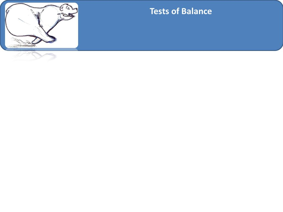 Tests of Balance