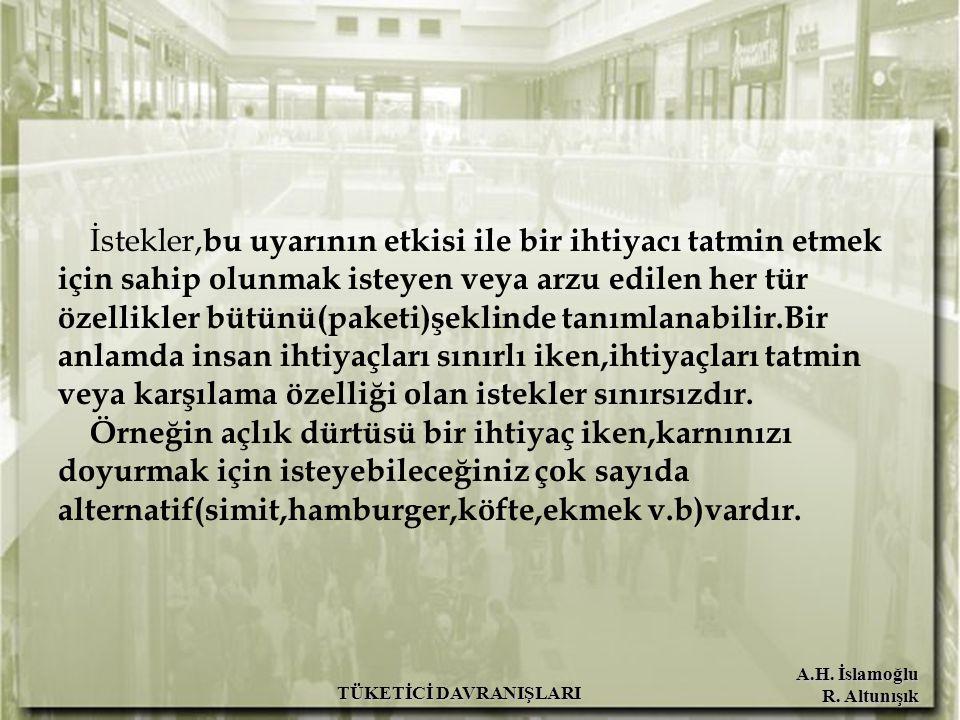 A.H. İslamoğlu R. Altunışık BİLİNÇLİ ALIŞVERİŞ YAPMANIN KOŞULLARI TÜKETİCİ DAVRANIŞLARI
