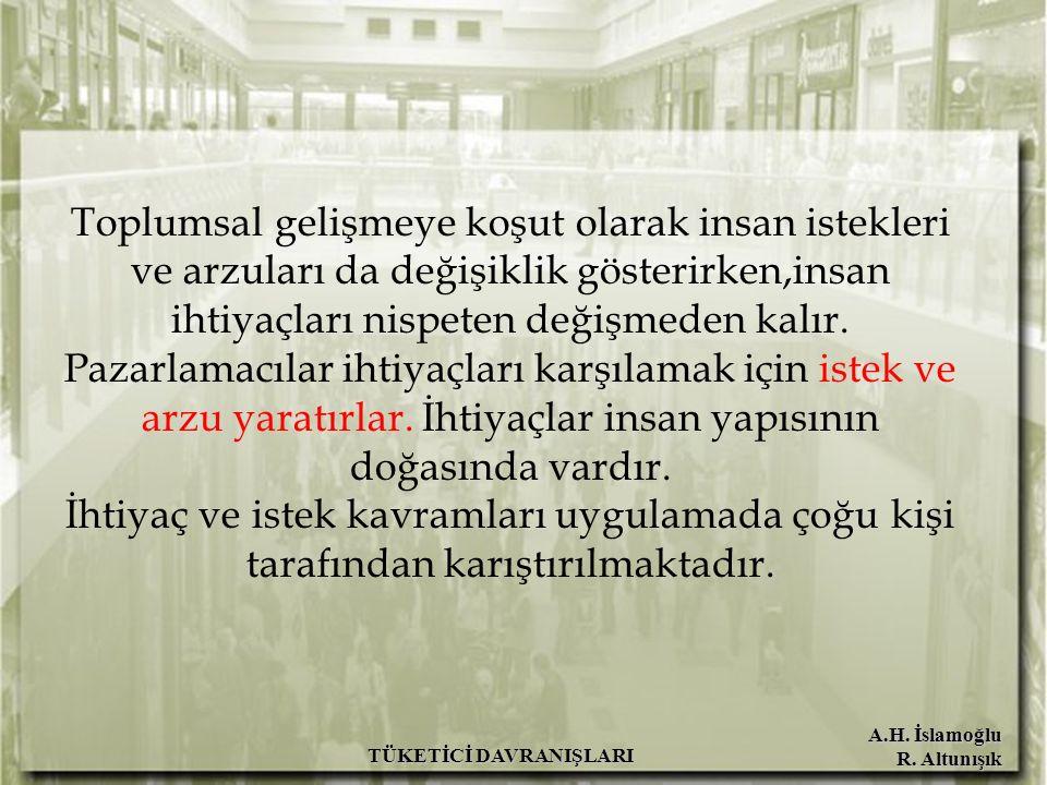 A.H.İslamoğlu R. Altunışık TÜKETİCİ DAVRANIŞLARI Beyaz eşya, otomobil v.b.
