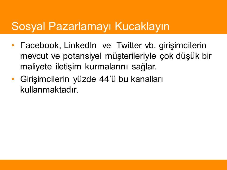 Sosyal Pazarlamayı Kucaklayın Facebook, LinkedIn ve Twitter vb.