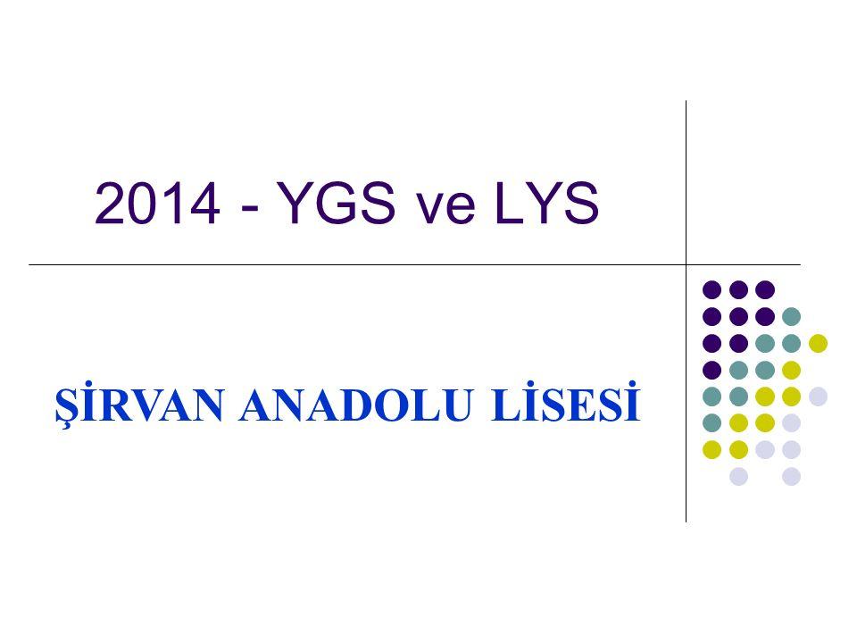 2014 - YGS ve LYS ŞİRVAN ANADOLU LİSESİ