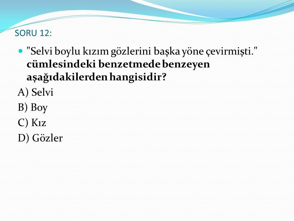 SORU 12: