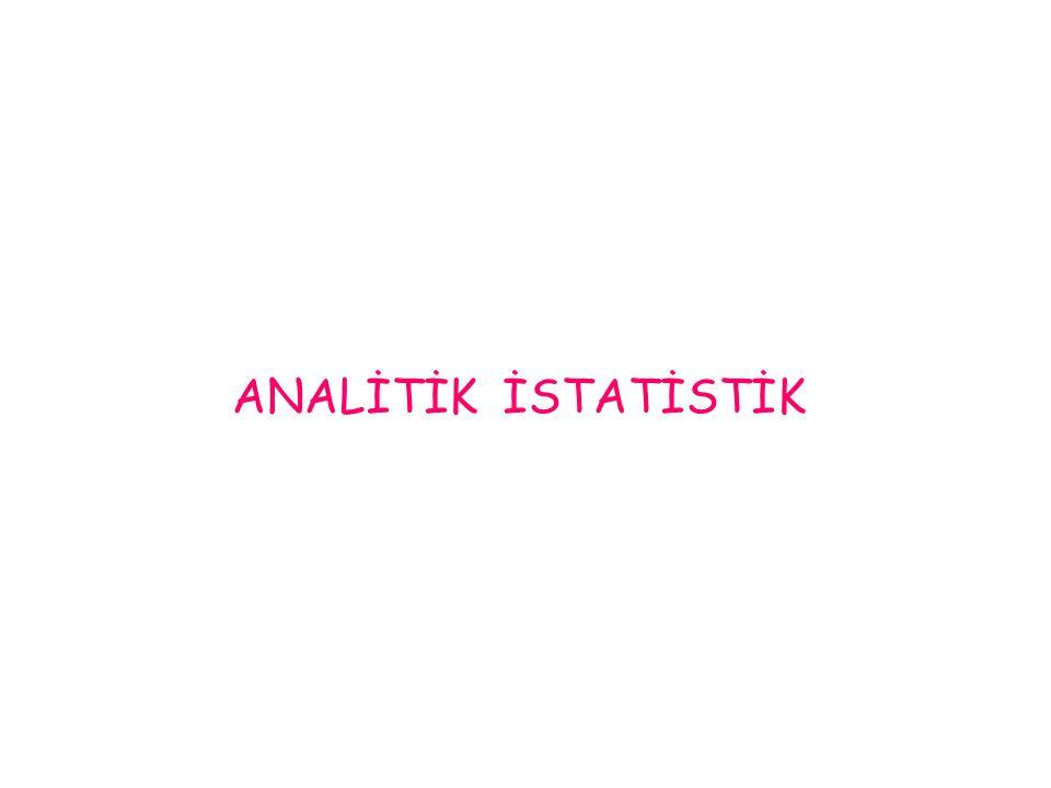 ANALİTİK İSTATİSTİK