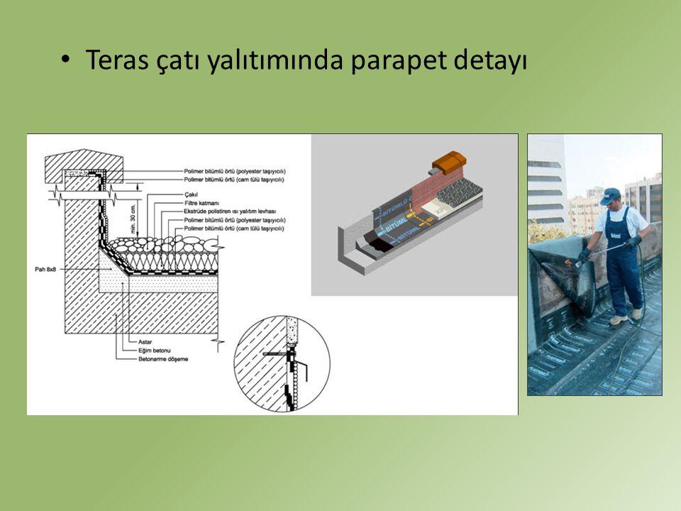Teras çatı yalıtımında parapet detayı