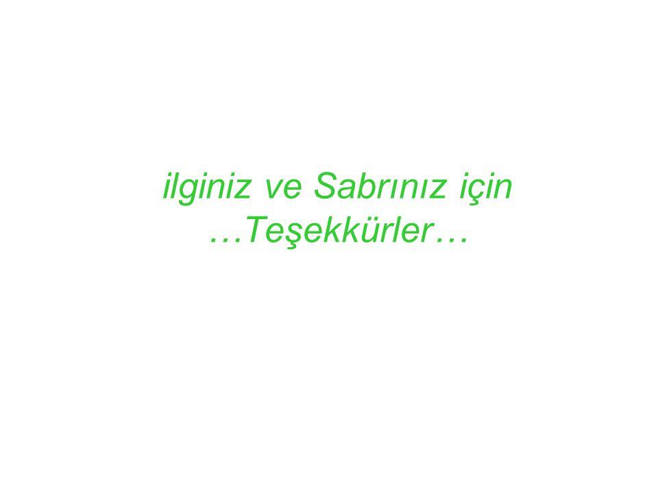 ilginiz ve Sabrınız için …Teşekkürler…