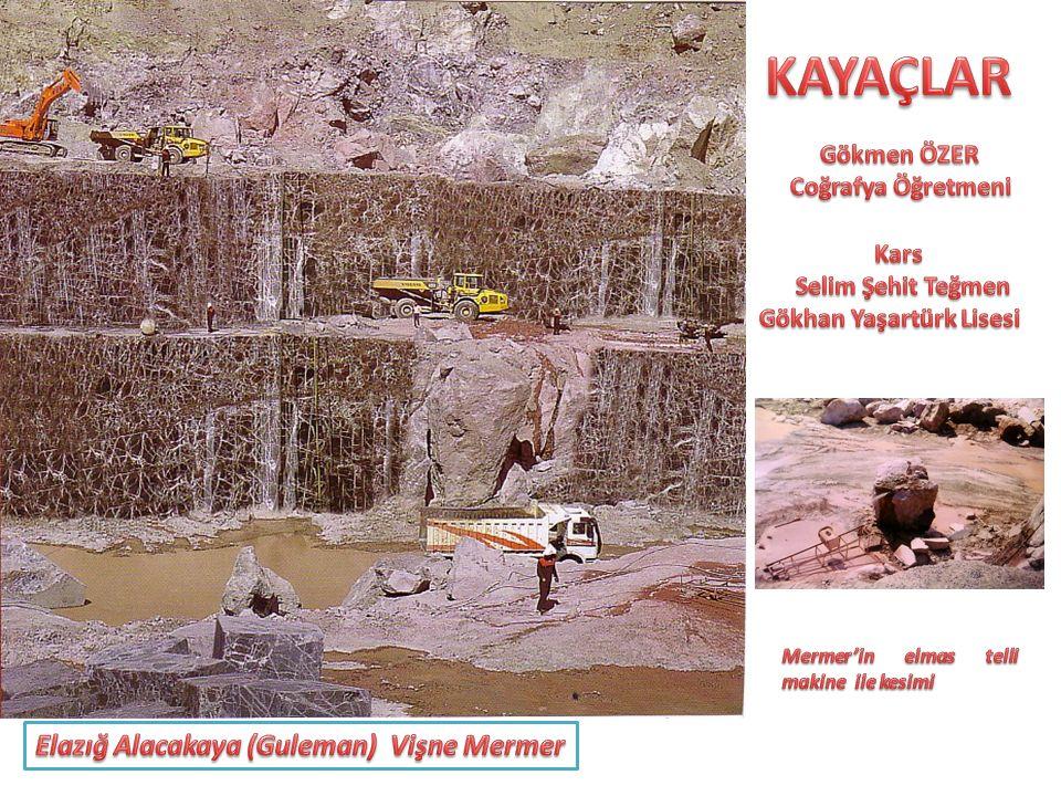 Kayaç(Taş): Taş kürenin ana unsuru olan ve çeşitli minerallerden oluşan topluluklara denir.