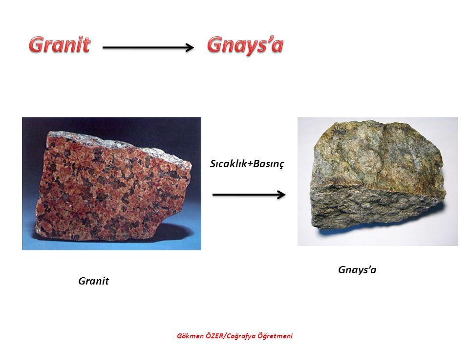 Gökmen ÖZER/Coğrafya Öğretmeni Sıcaklık+Basınç Granit Gnays'a