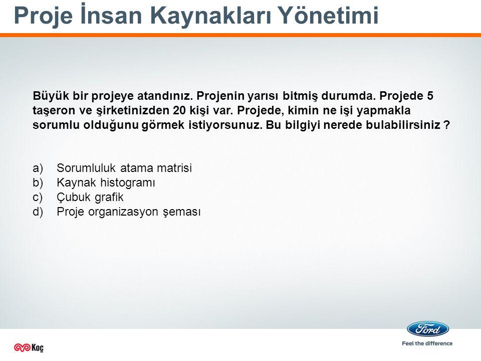 Proje İnsan Kaynakları Yönetimi Büyük bir projeye atandınız.