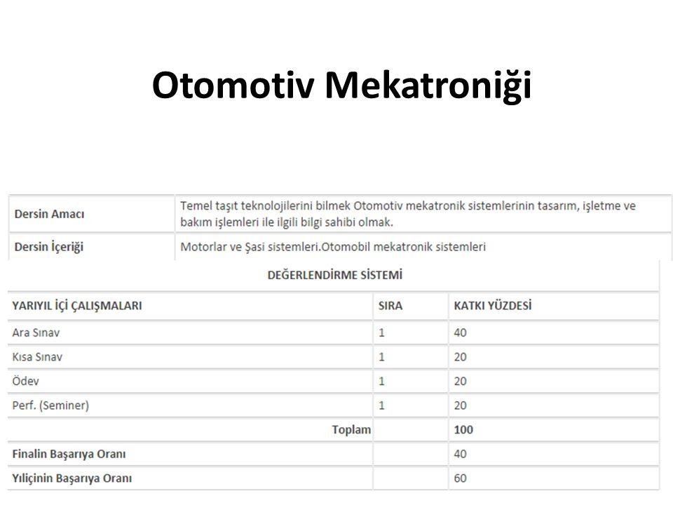Otomotiv Mekatroniği