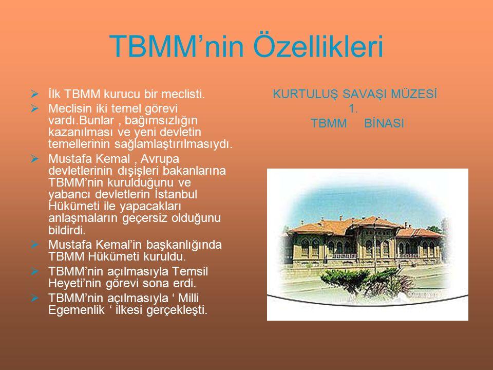 TBMM'ne Karşı Ayaklanmalar  Doğrudan İstanbul Hükümeti tarafından çıkarılan ayaklanmalar,  İtilaf Devletleri ve İstanbul Hükümeti tarafından desteklenen ayaklanmalar,  Azınlıklar tarafından çıkarılan ayaklanmalar,  Eski Kuvay-i Milliyeciler tarafından çıkarılan ayaklanmalar.