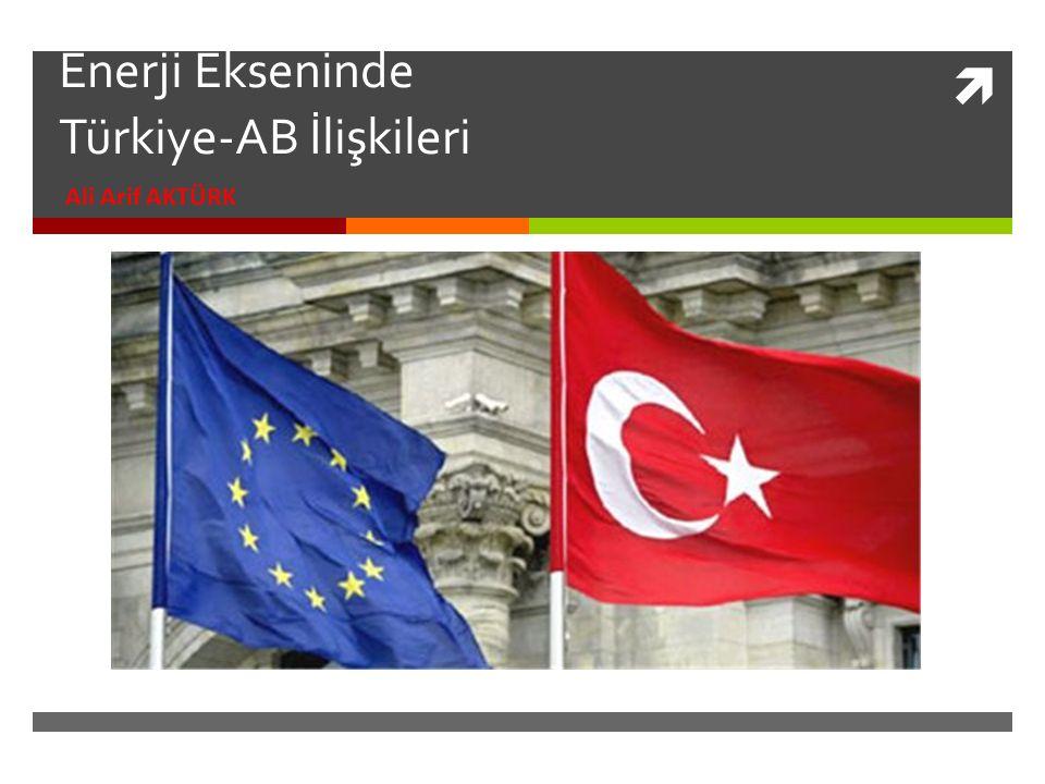  Enerji Ekseninde Türkiye-AB İlişkileri Ali Arif AKTÜRK