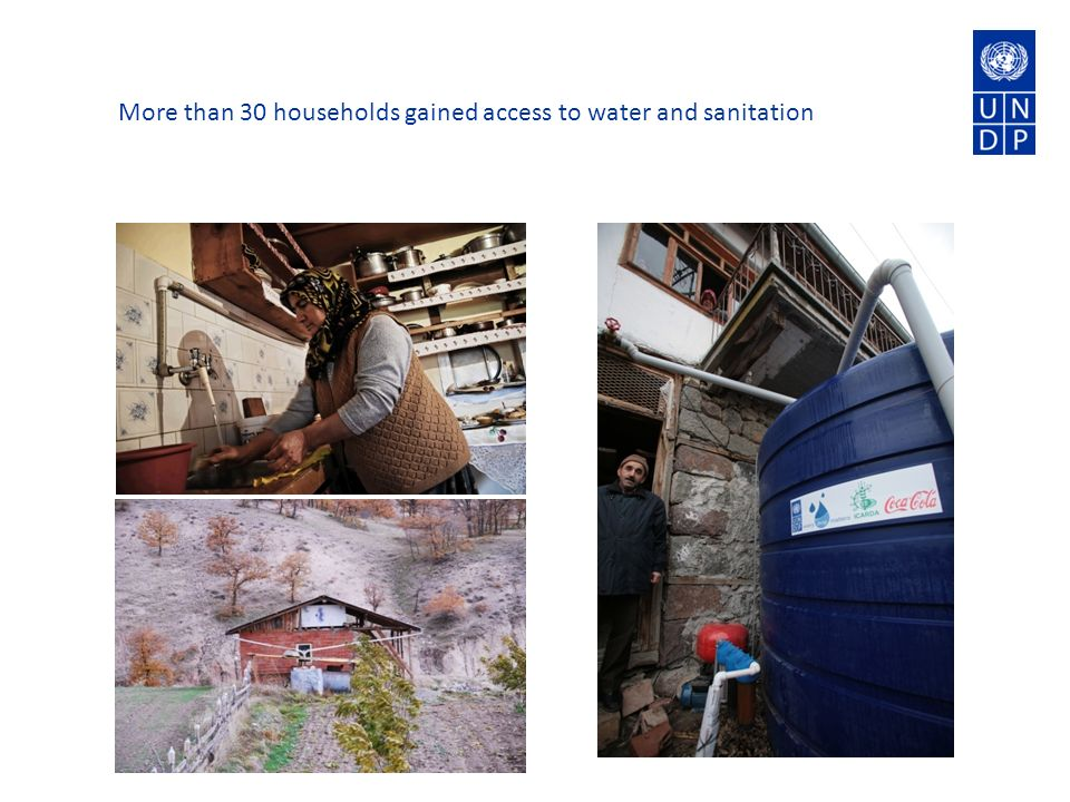 More than 30 households gained access to water and sanitation