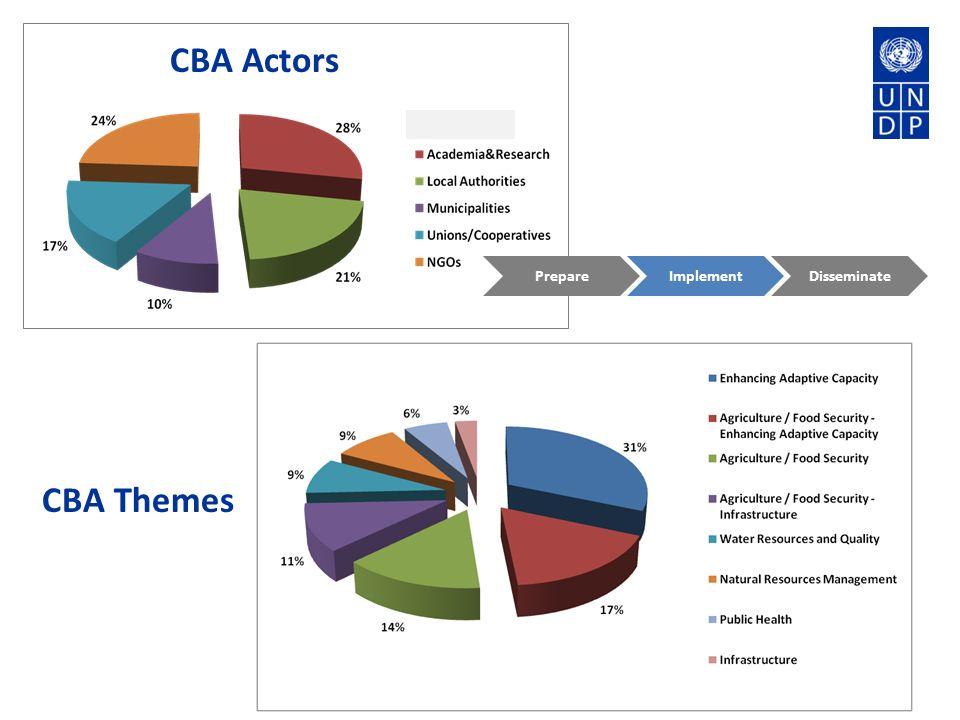 CBA Actors CBA Themes PrepareImplementDisseminate