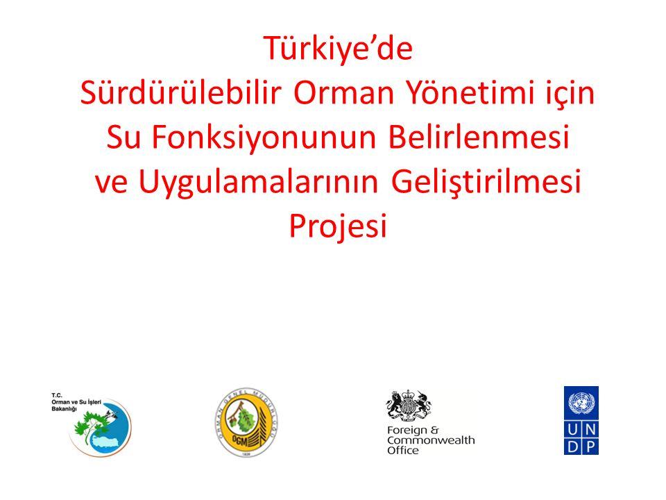 Türkiye'de Sürdürülebilir Orman Yönetimi için Su Fonksiyonunun Belirlenmesi ve Uygulamalarının Geliştirilmesi Projesi