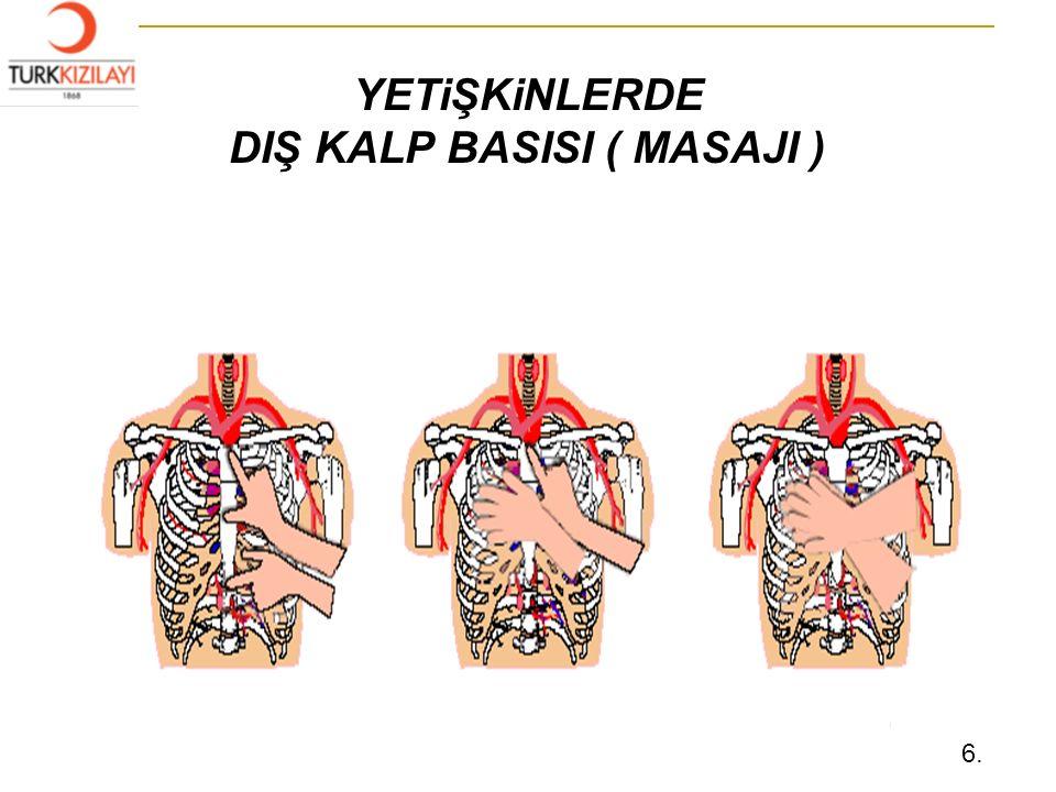 YETiŞKiNLERDE DIŞ KALP BASISI ( MASAJI ) 5 6.