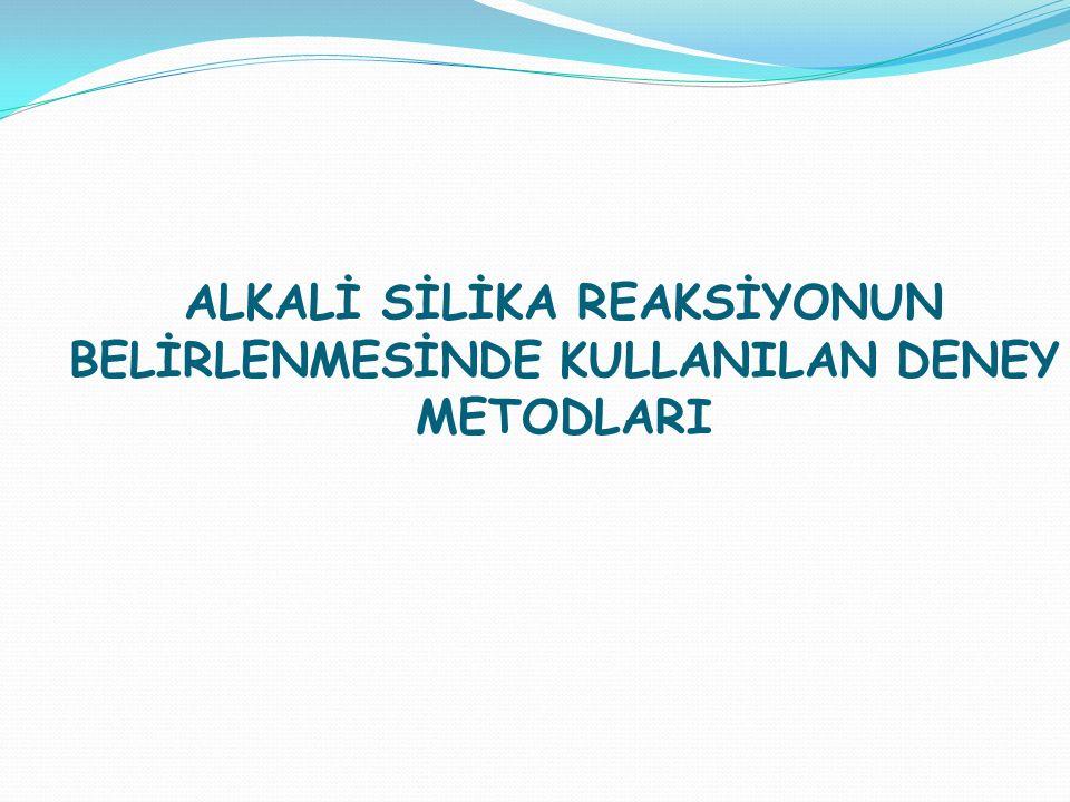 ASR'NİN BELİRLENMESİNDE HANGİ DENEY METOTLARI KULLANILIR.