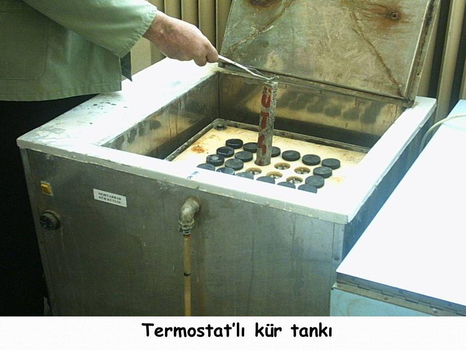 Termostat'lı kür tankı