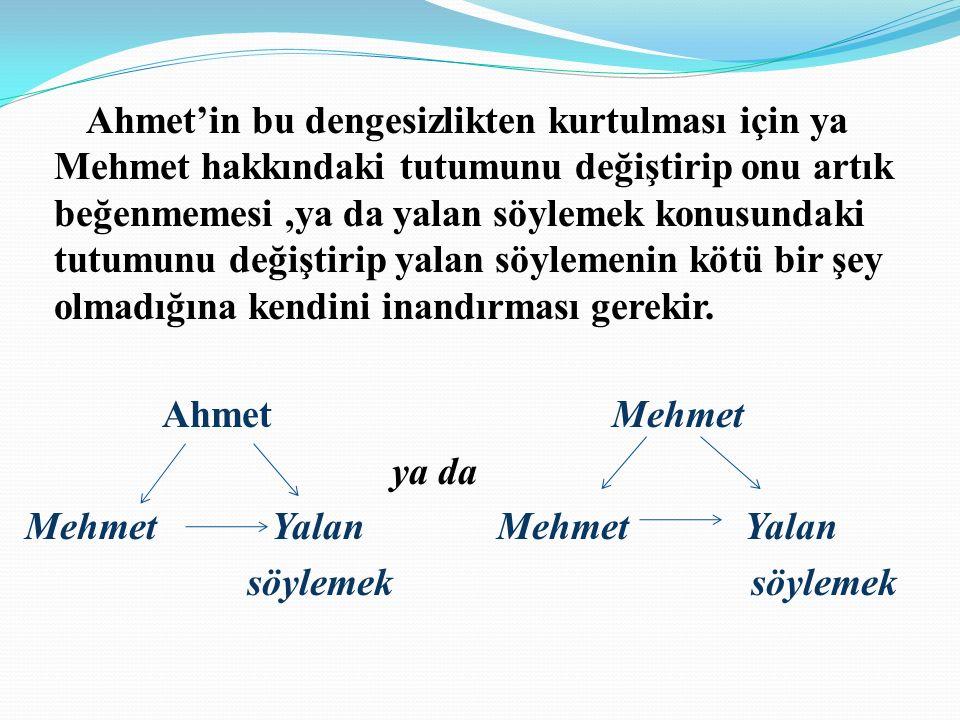 Örneğin ; Ahmet (k),arkadaşı Mehmet'i (d) çok sever,beğenir.