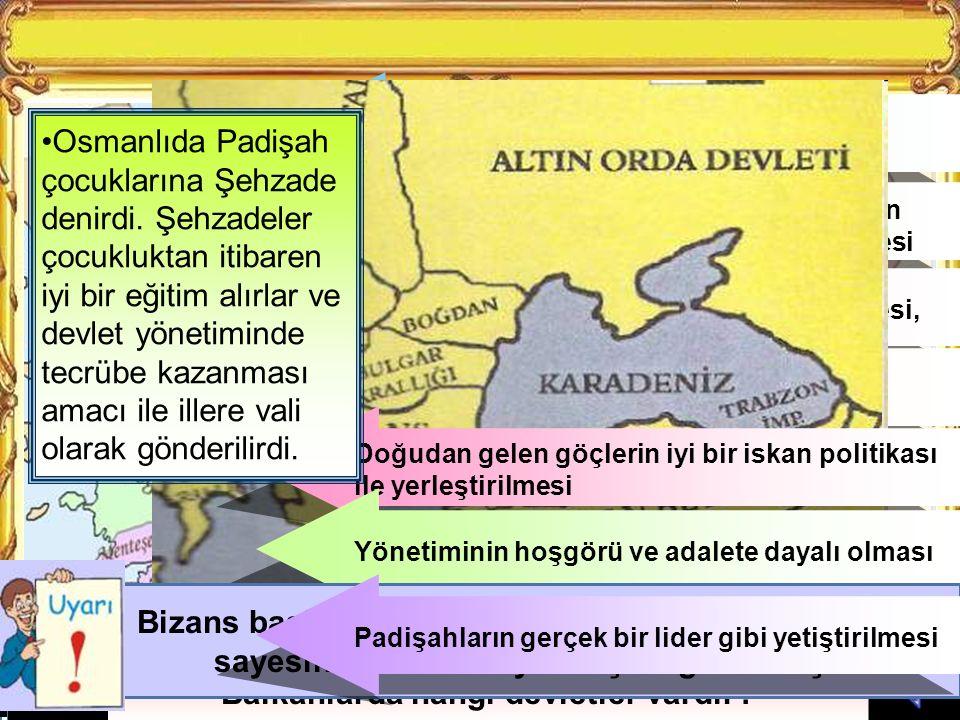 Çizimlere bakarak Osmanlının Balkanlara geçtiği Sırada hangi devletler olduğunu söyleyiniz.